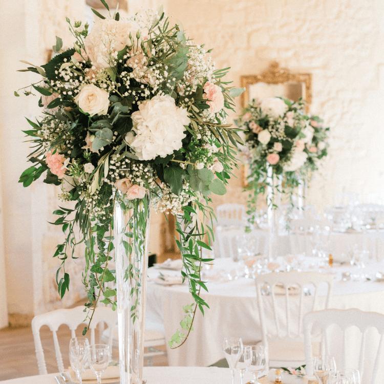 Centre de table-décoration-table-mariage-fleurs-bordeaux-lpfloraldesigner