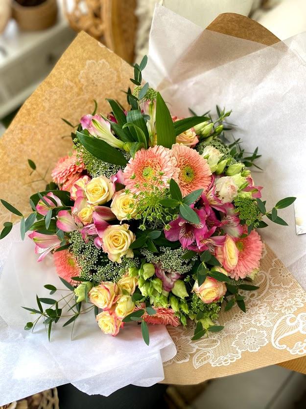 Bouquet rond coloré