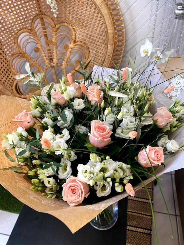 Bouquet fleurs pastel